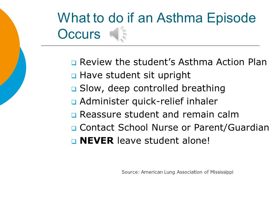 What to do if an Asthma Episode Occurs