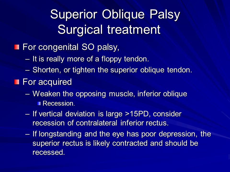 Superior Oblique Palsy Surgical treatment