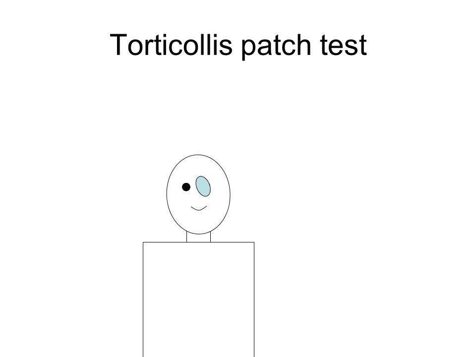 Torticollis patch test