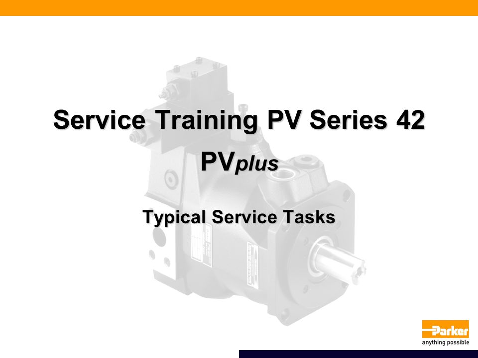 Service Training PV Series 42 PVplus