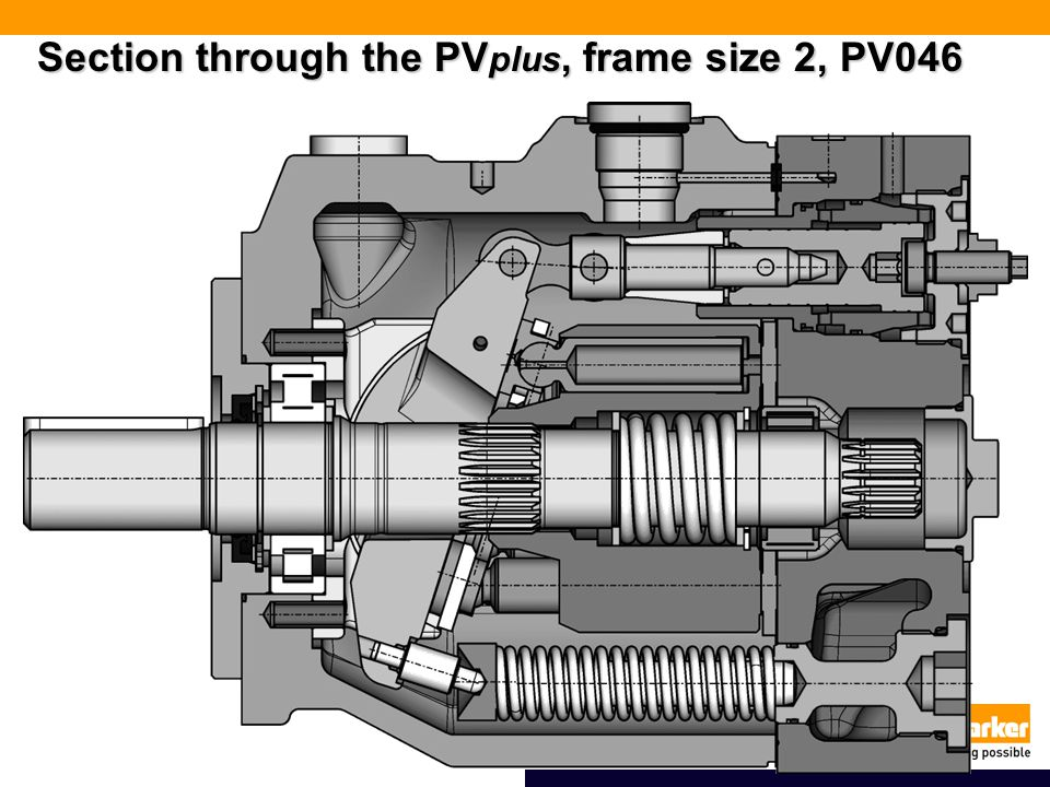 Section through the PVplus, frame size 2, PV046