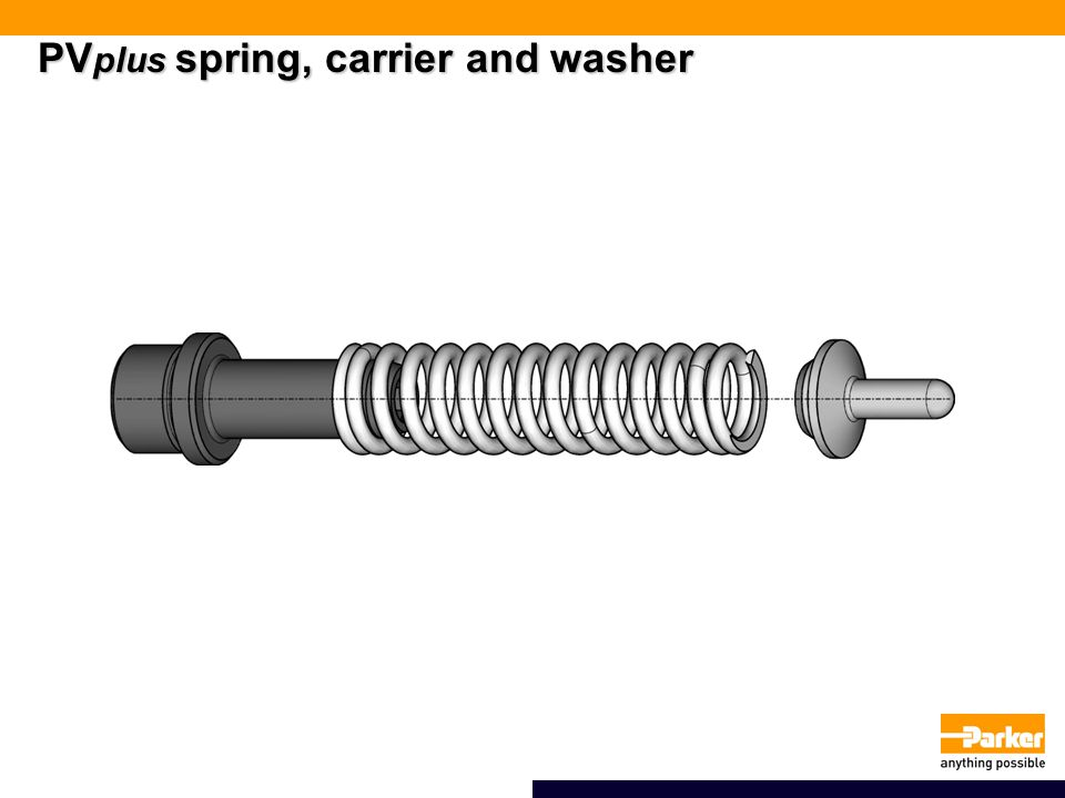 PVplus spring, carrier and washer