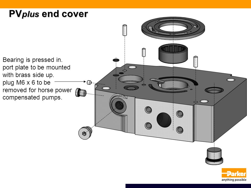 PVplus end cover Bearing is pressed in.