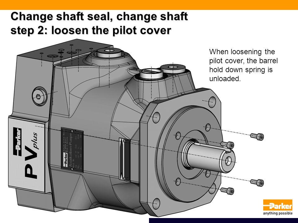 Change shaft seal, change shaft step 2: loosen the pilot cover