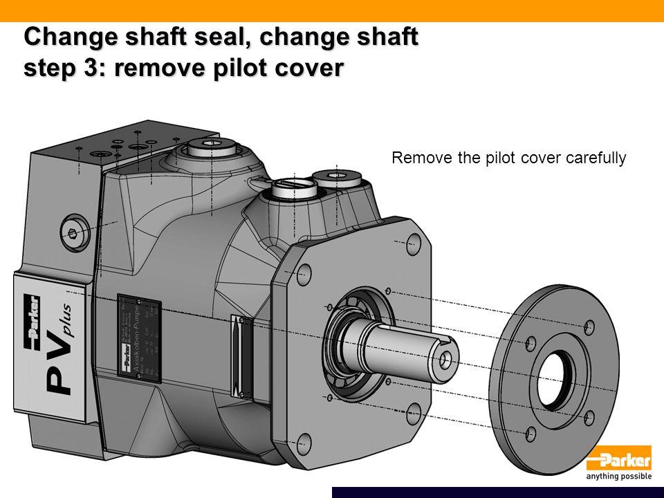 Change shaft seal, change shaft step 3: remove pilot cover