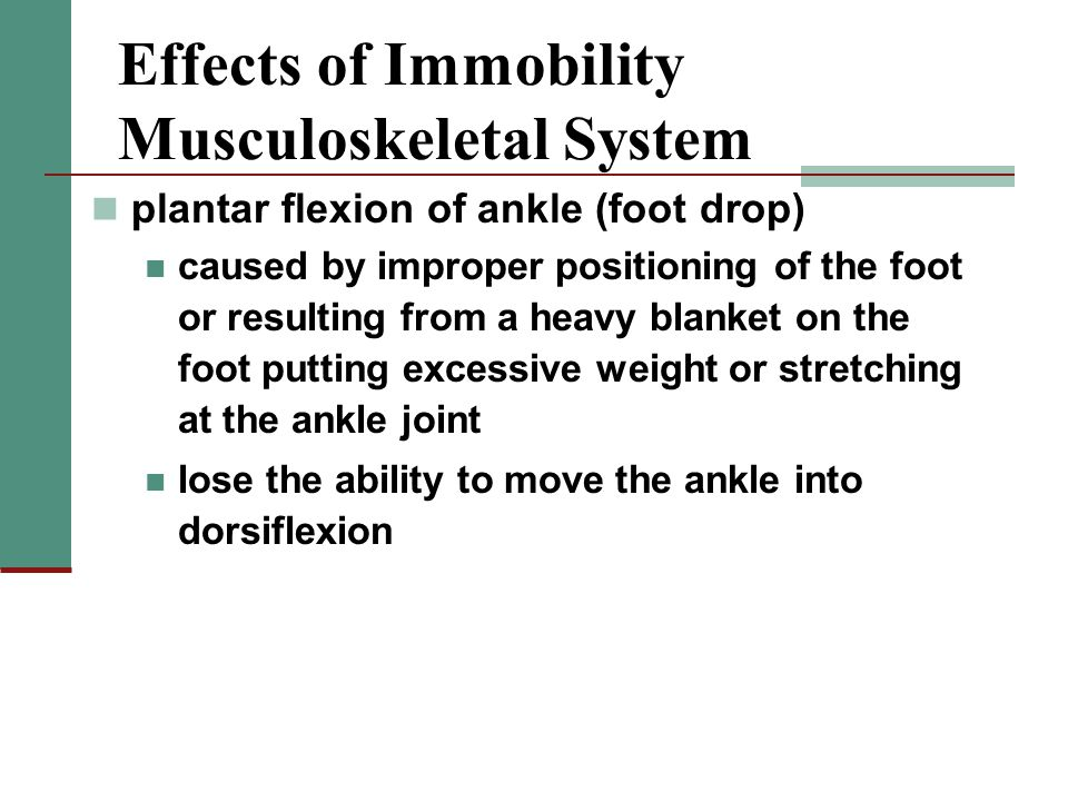 Effects of Immobility Musculoskeletal System