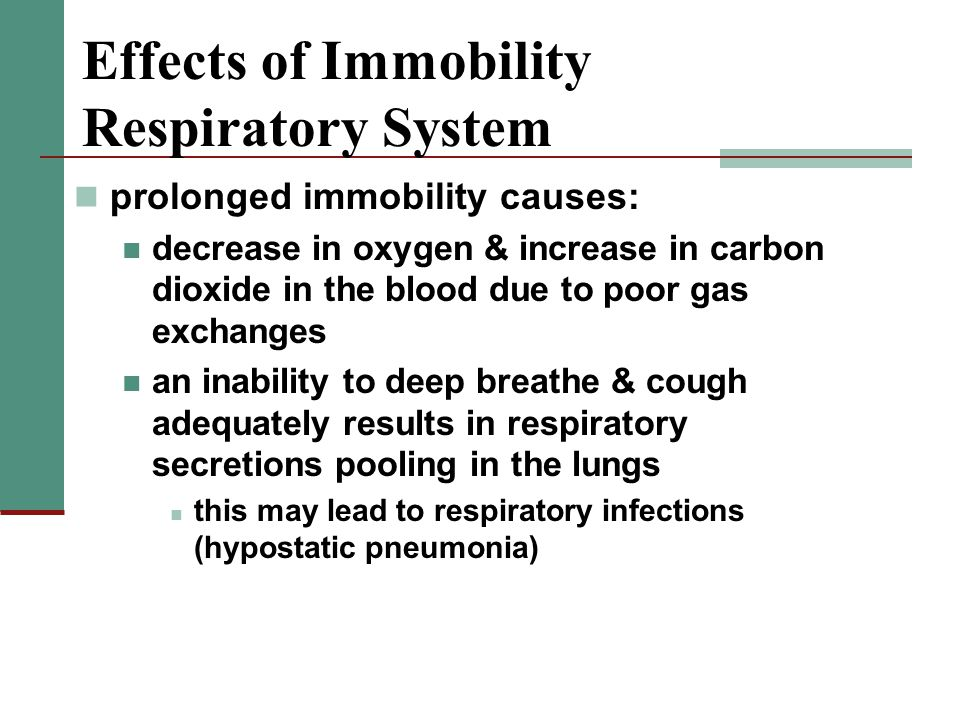 Effects of Immobility Respiratory System
