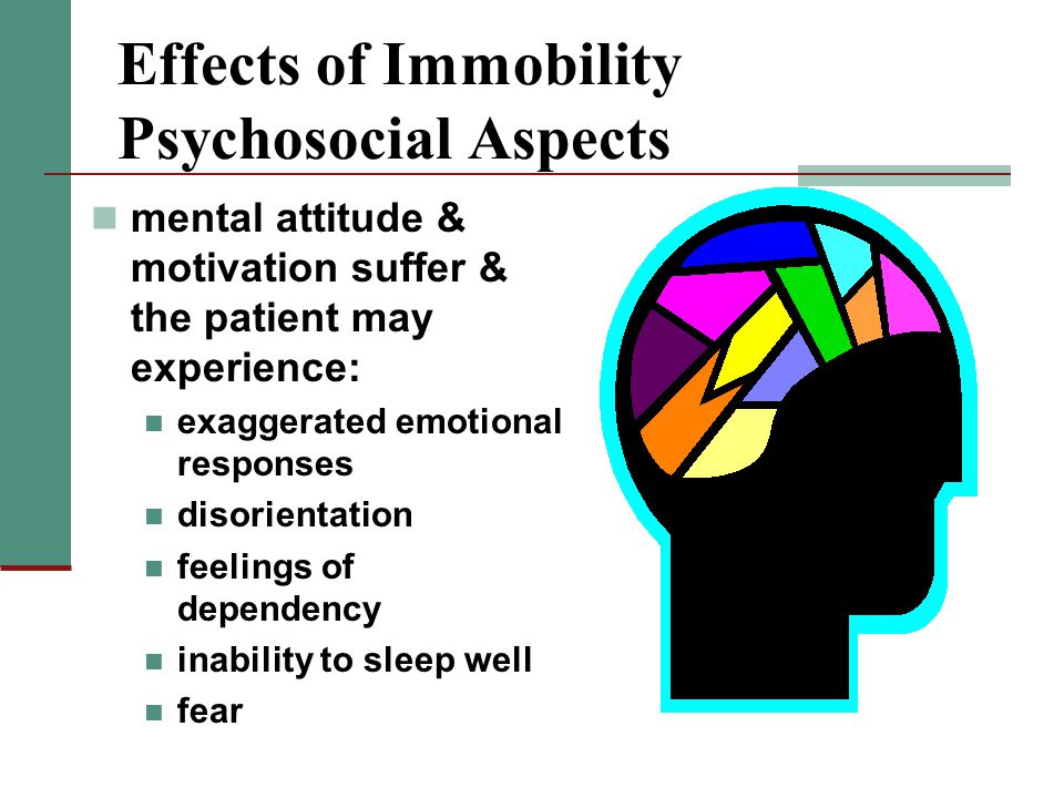 Effects of Immobility Psychosocial Aspects