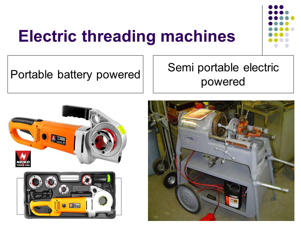 Electric threading machines
