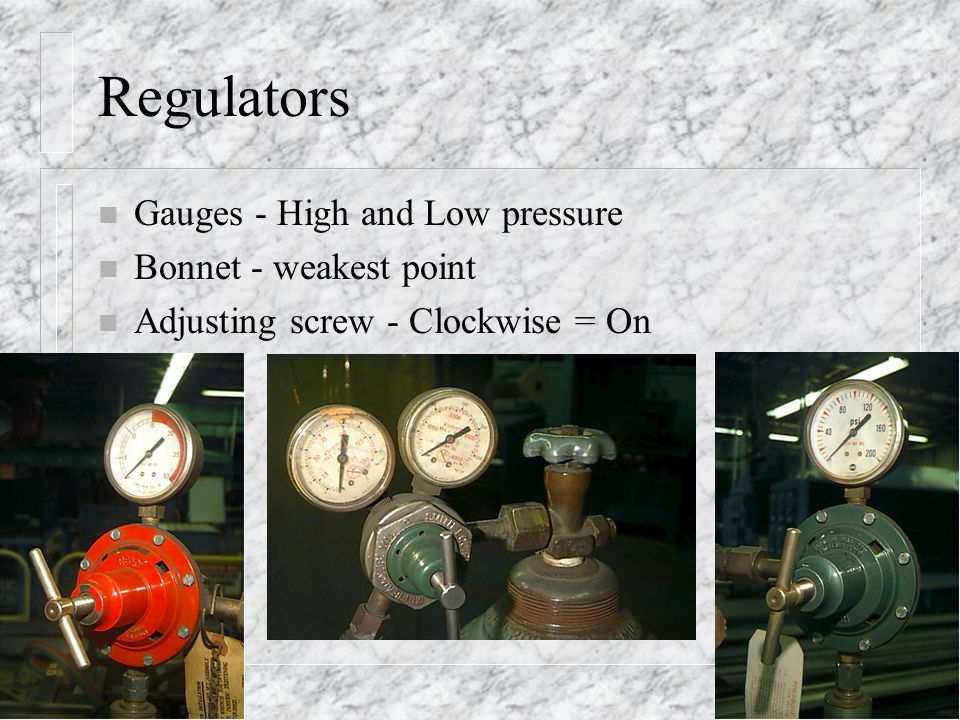 Regulators Gauges - High and Low pressure Bonnet - weakest point