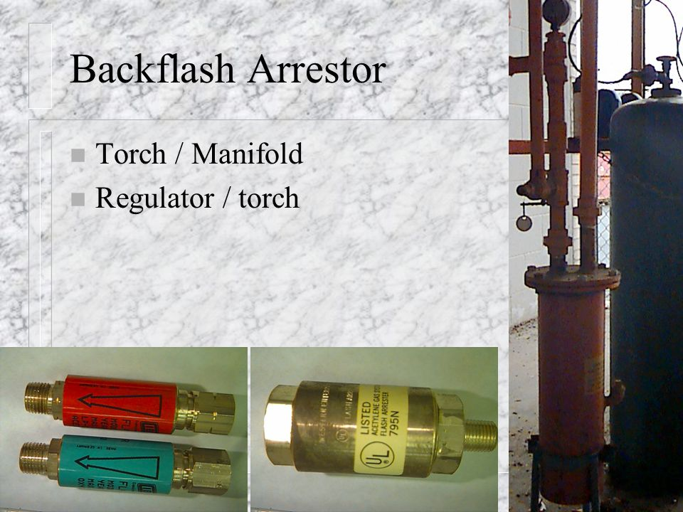 Backflash Arrestor Torch / Manifold Regulator / torch