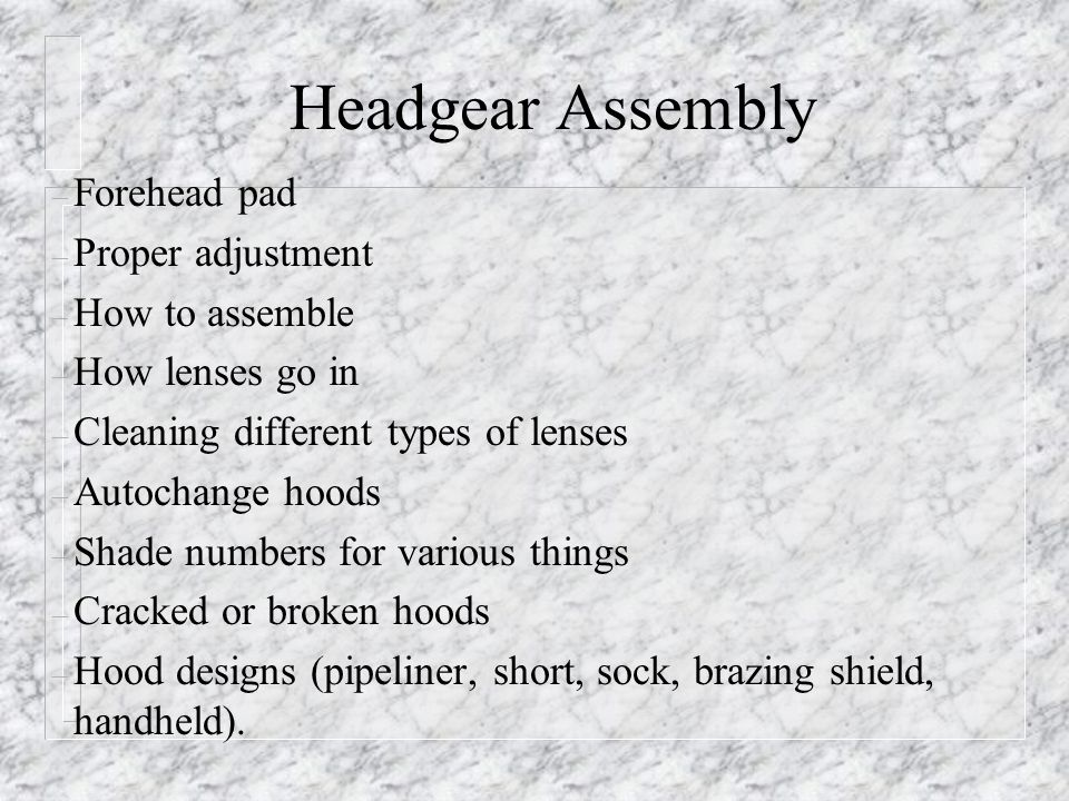 Headgear Assembly Forehead pad Proper adjustment How to assemble