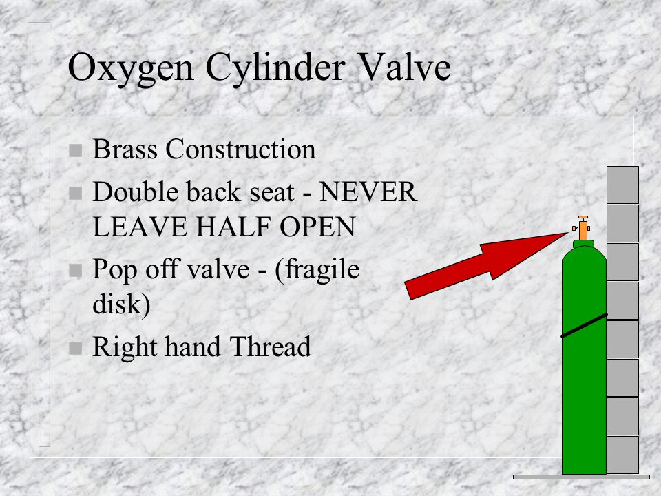 Oxygen Cylinder Valve Brass Construction