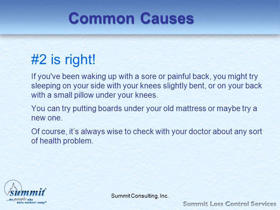 Common Causes #2 is right!