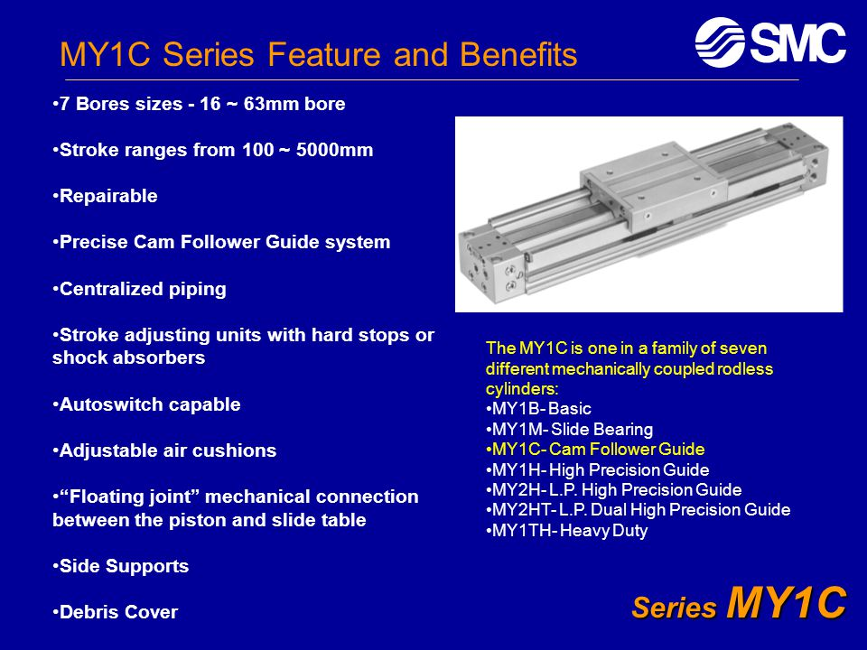 MY1C Series Feature and Benefits
