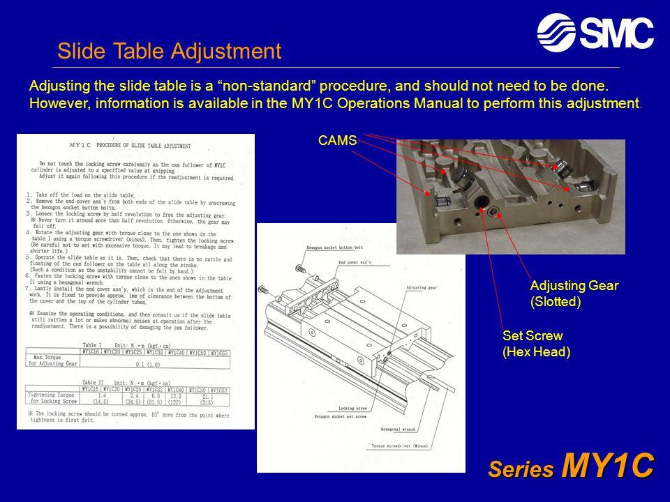 Slide Table Adjustment
