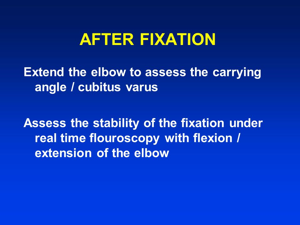 AFTER FIXATION