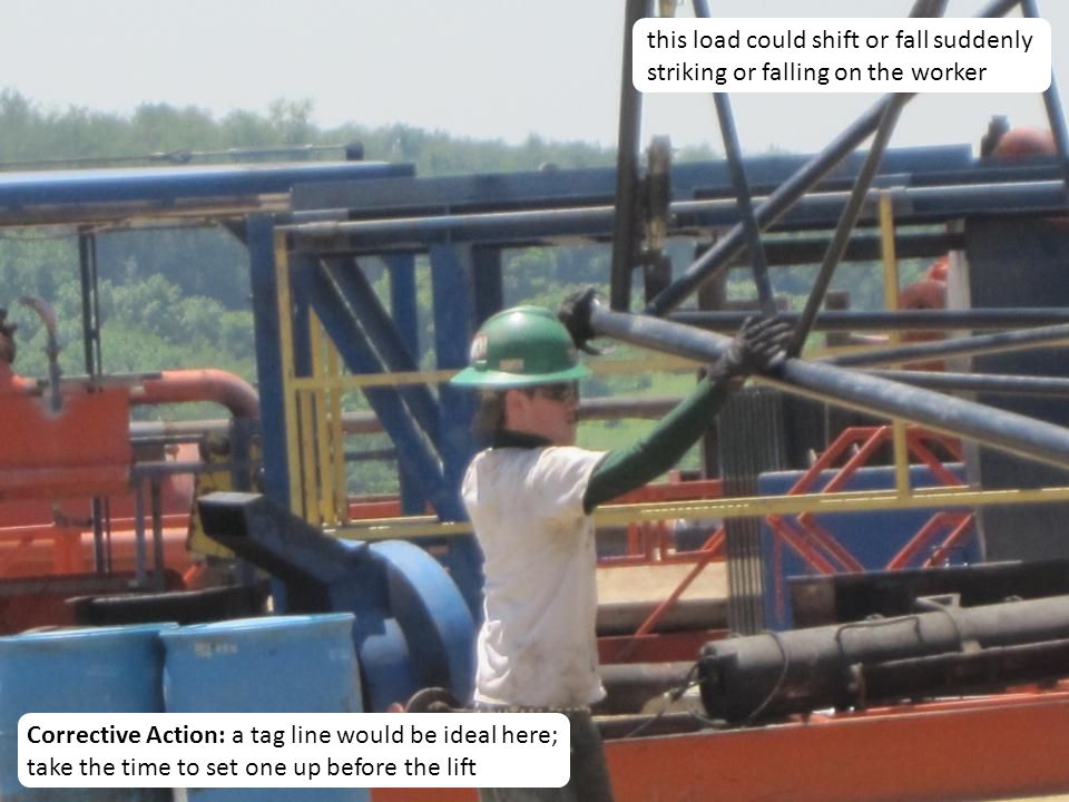 this load could shift or fall suddenly striking or falling on the worker