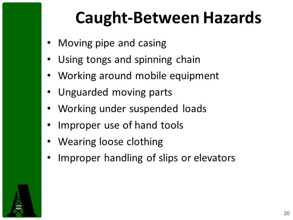 Caught-Between Hazards