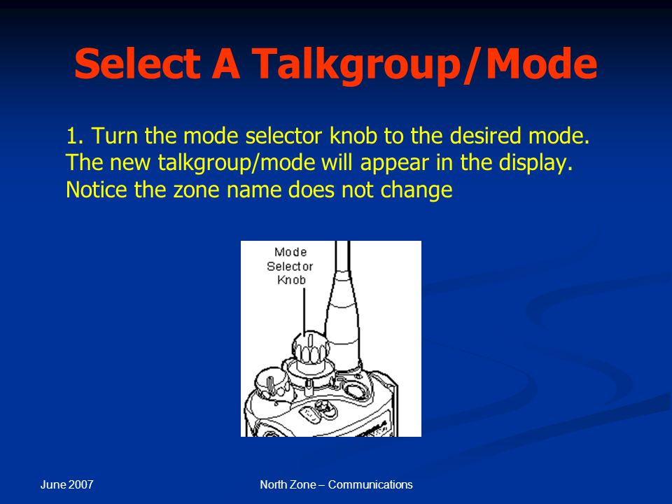 Select A Talkgroup/Mode