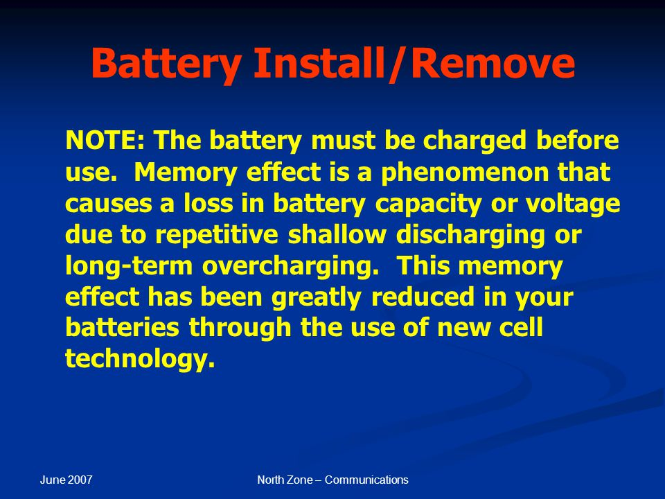 Battery Install/Remove