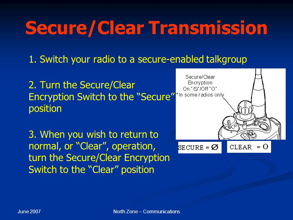 Secure/Clear Transmission