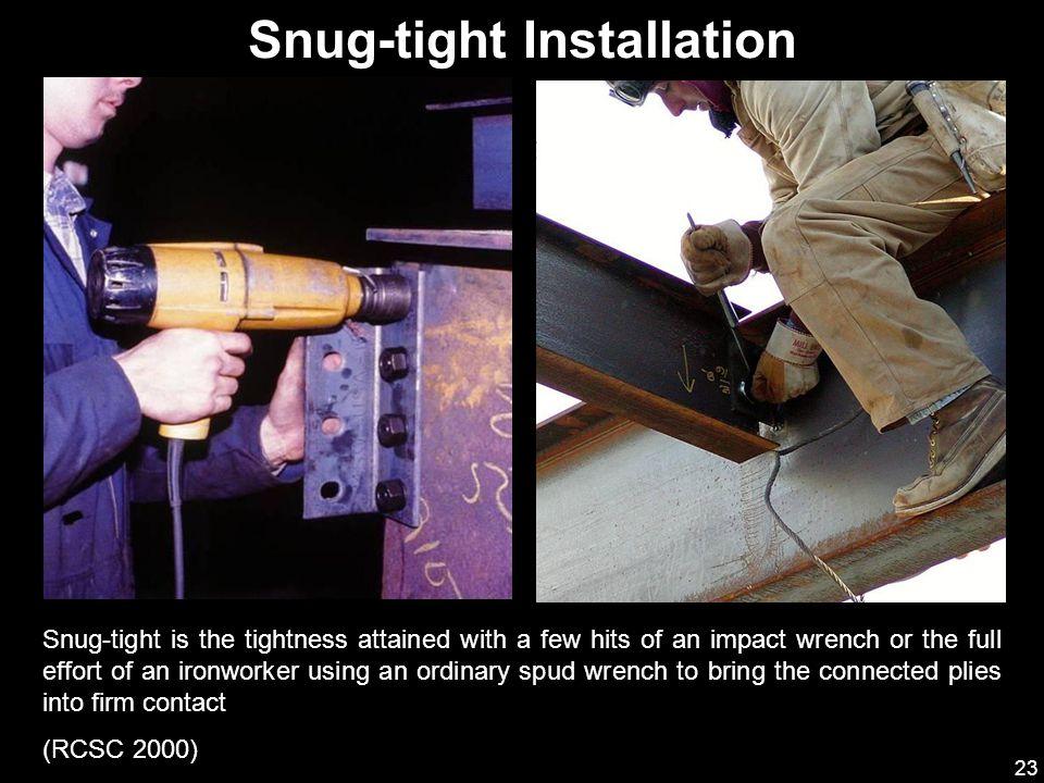 Snug-tight Installation