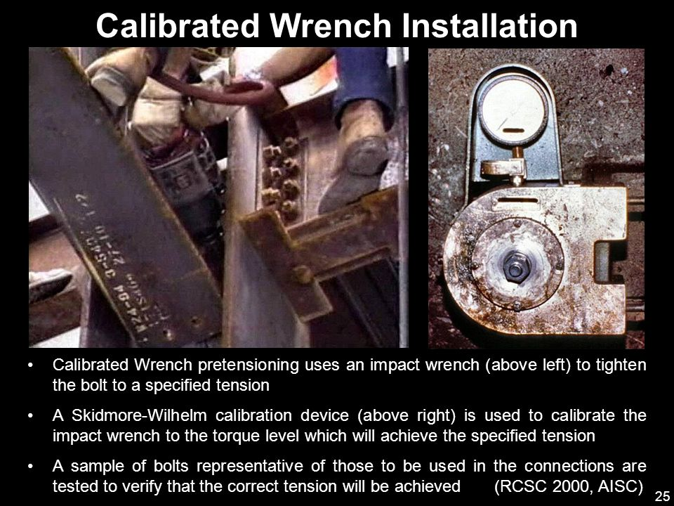 Calibrated Wrench Installation
