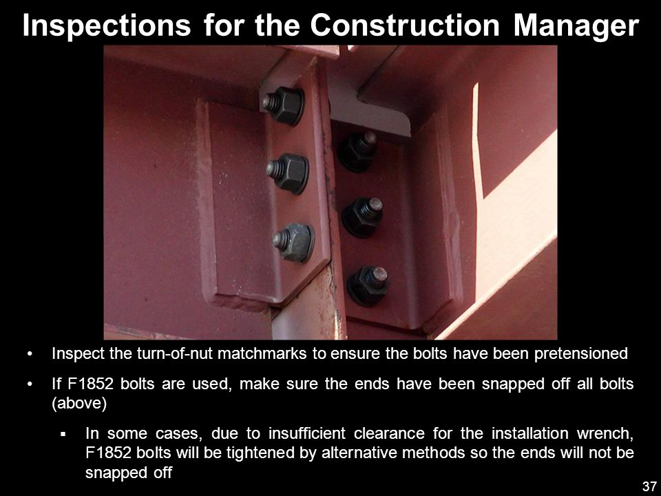Inspections for the Construction Manager