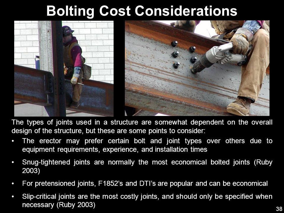 Bolting Cost Considerations