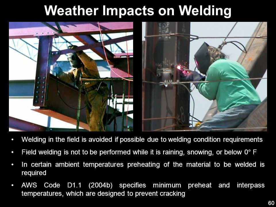 Weather Impacts on Welding