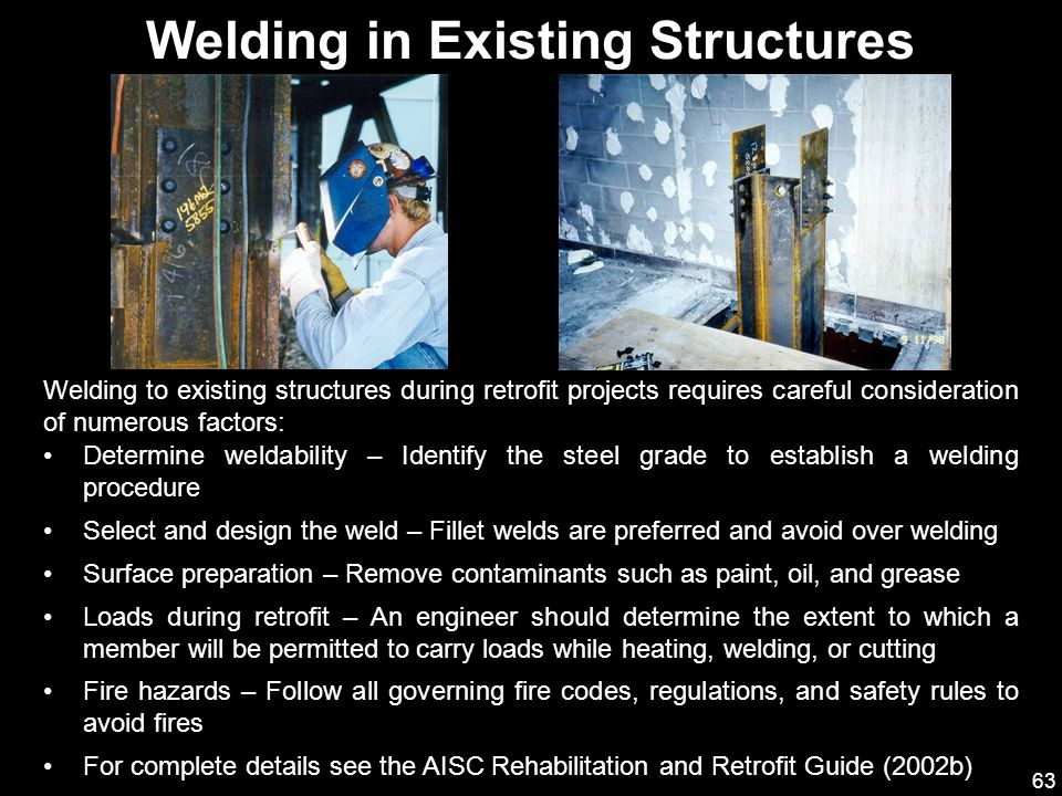 Welding in Existing Structures