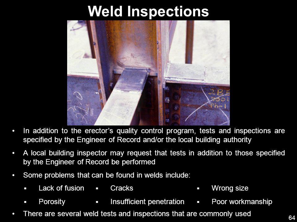Weld Inspections
