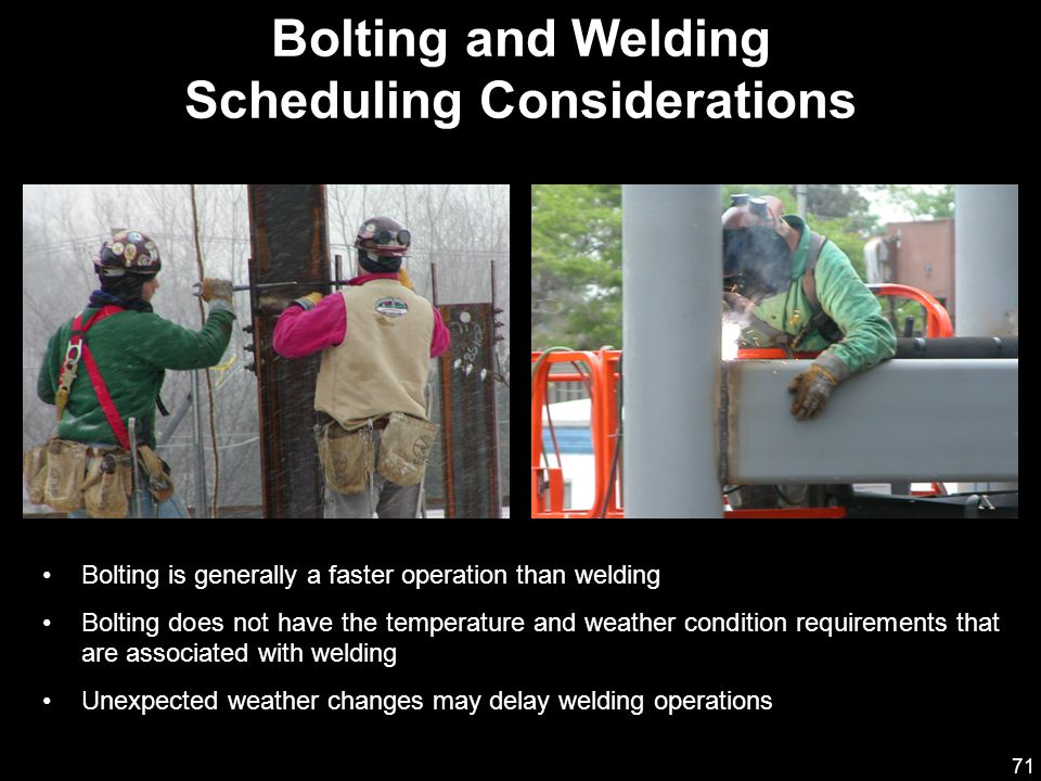 Bolting and Welding Scheduling Considerations