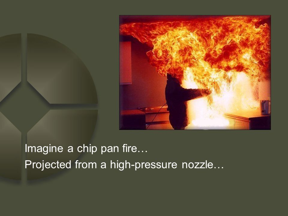 Imagine a chip pan fire…