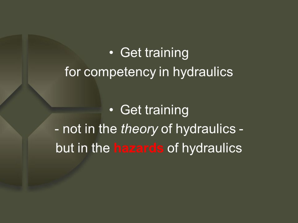 for competency in hydraulics