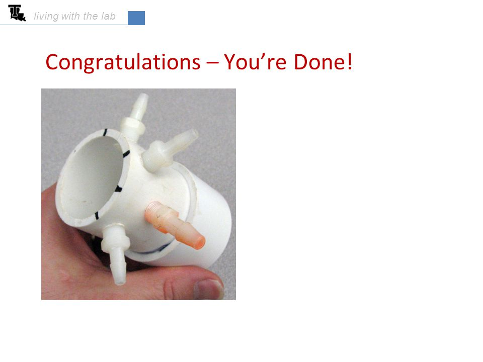 Congratulations – You're Done!