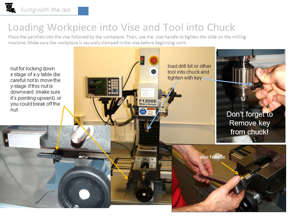 Loading Workpiece into Vise and Tool into Chuck