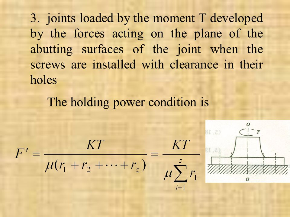The holding power condition is