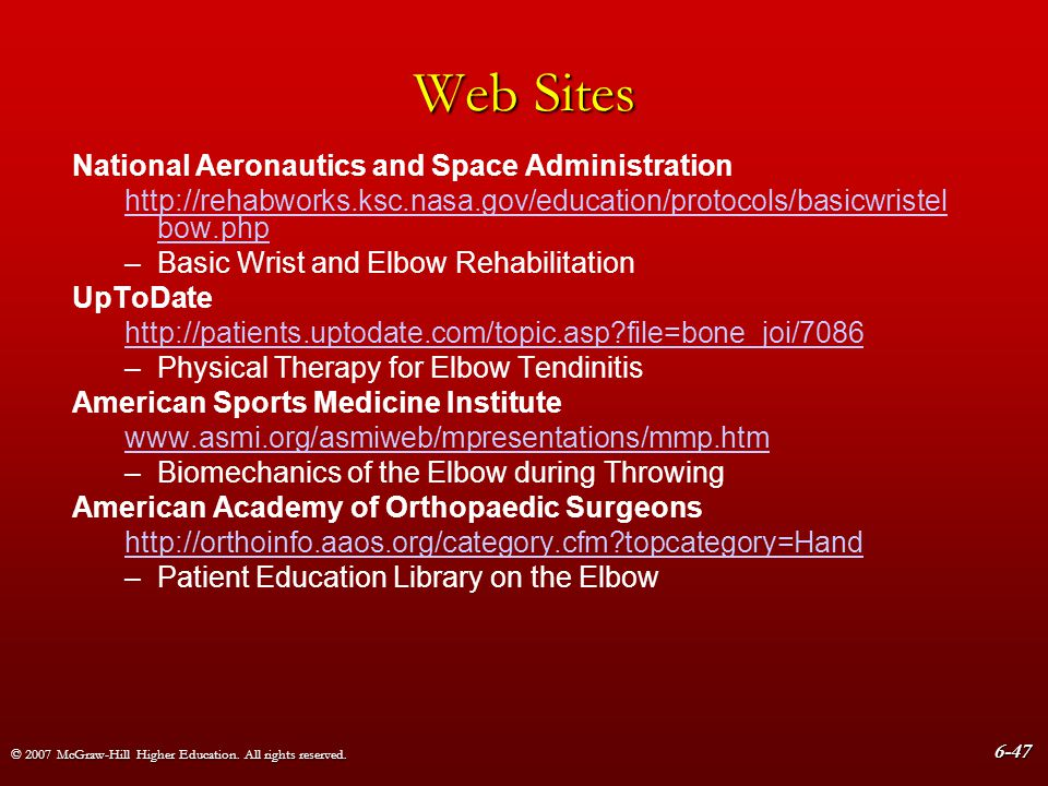 Web Sites National Aeronautics and Space Administration