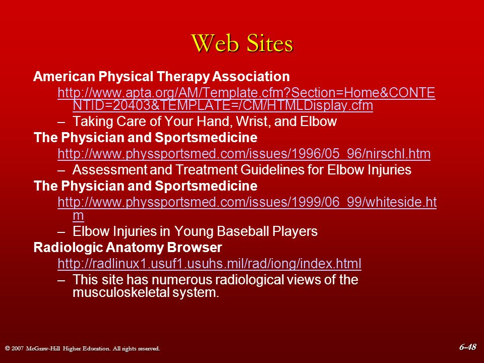 Web Sites American Physical Therapy Association