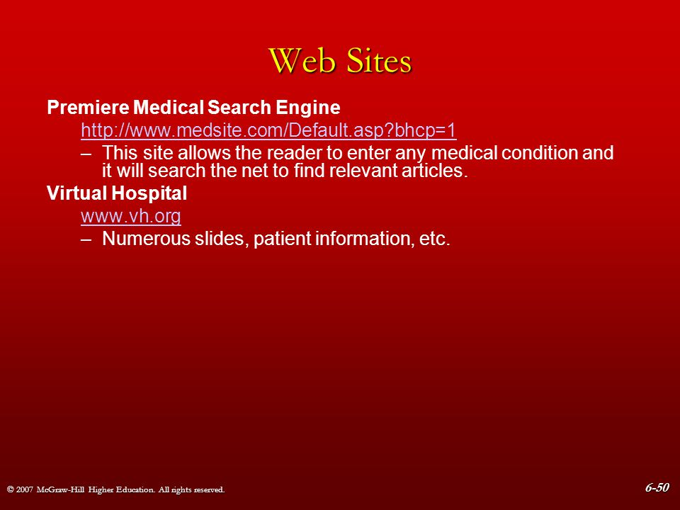Web Sites Premiere Medical Search Engine