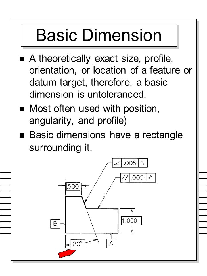 Basic Dimension