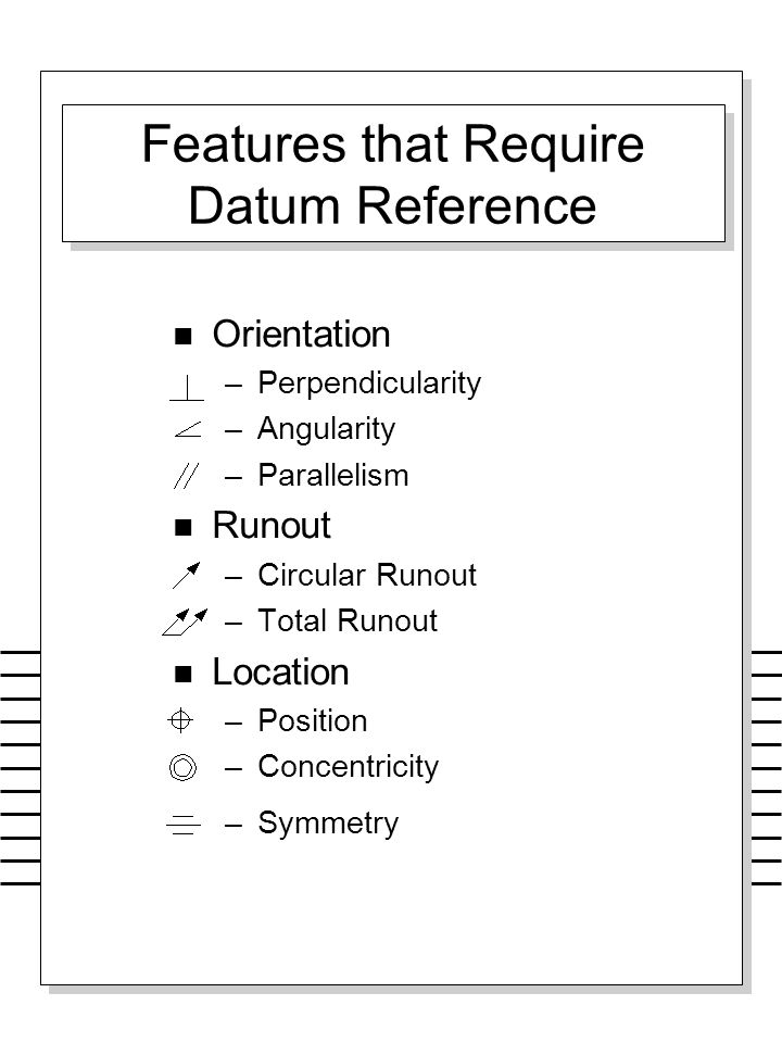 Features that Require Datum Reference