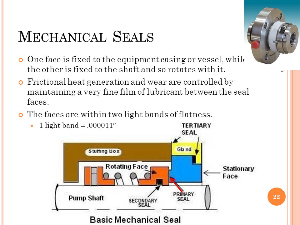 Mechanical Seals 10:06. One face is fixed to the equipment casing or vessel, while the other is fixed to the shaft and so rotates with it.