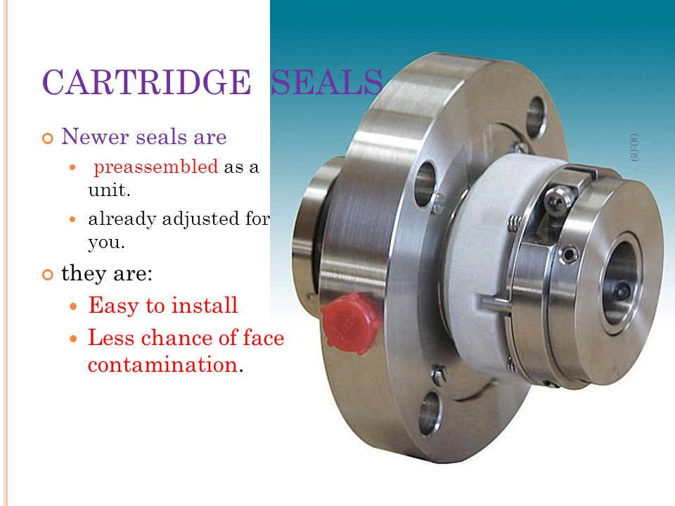 CARTRIDGE SEALS Newer seals are they are: Easy to install