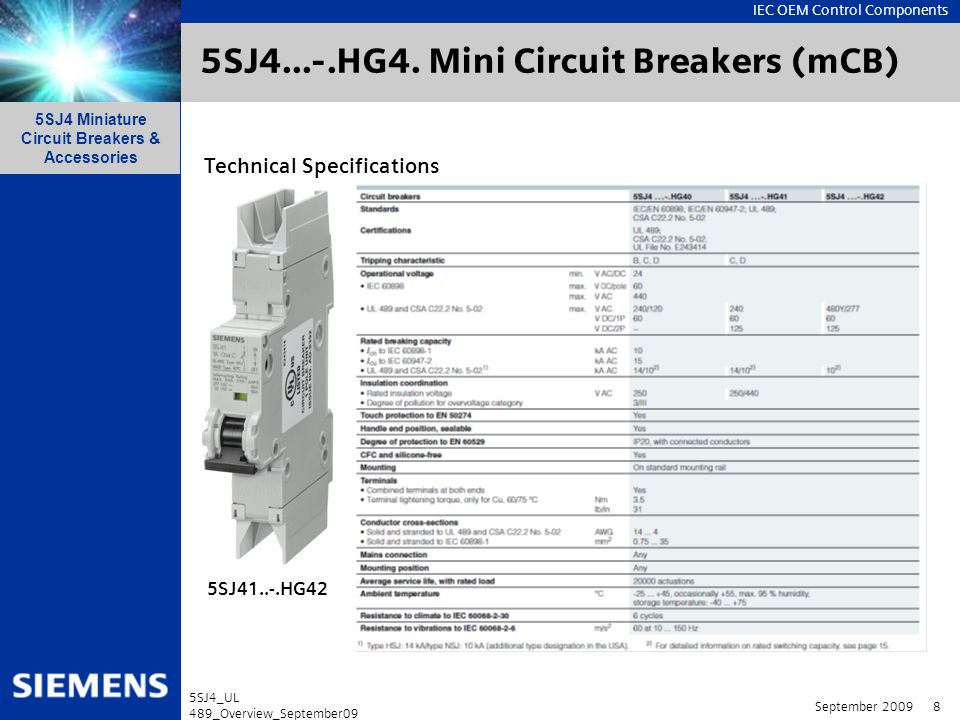 5SJ4...-.HG4. Mini Circuit Breakers (mCB)