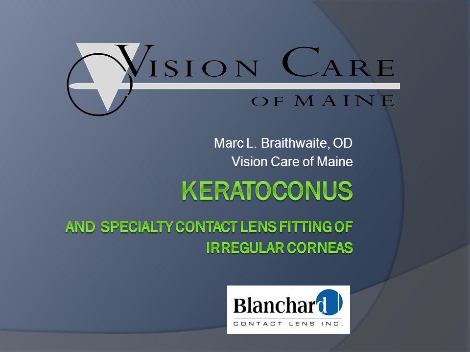 Keratoconus And specialty contact lens fitting of irregular corneas