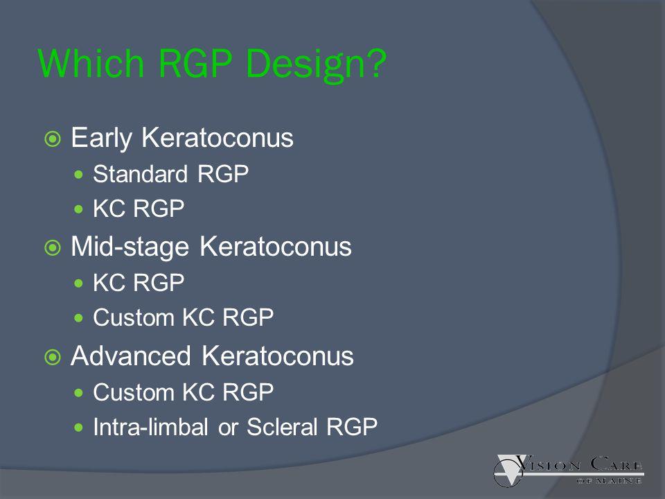 Which RGP Design Early Keratoconus Mid-stage Keratoconus