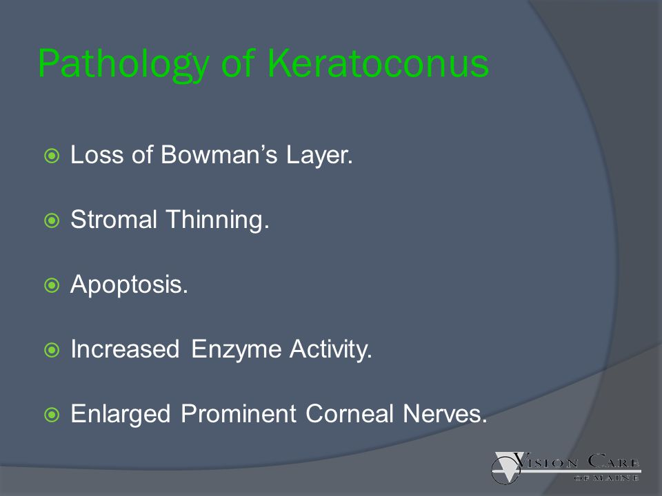 Pathology of Keratoconus